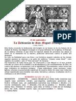 La dedicación de San Miguel Arcángel. 29 de Septiembre. PDF FOLLETO