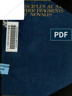 Novalis the Disciples at Sais and Other Fragments