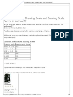 Who Knows About Drawing Scale and Drawing Scale Factor in Autocad_