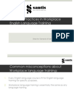 Effective Practices in Workplace English Language Training