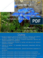 13. Condensed Azines. Quinoline. Isoquinoline. Acridine. Diazines. Purine.