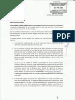 Cargo Escrito Ingreso 042-2013, Fiscalía de la Nación