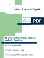 Classification of Verbs in English