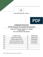 ATPS Desenvolvimento Econômico