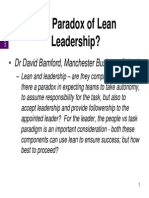 D Bamford the Paradox of Lean Leadership Sept 2011 2