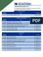 Cronograma dos Cursos - Março 2013 (1)