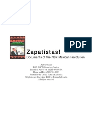Zapatistas Book Zapatista Army Of National Liberation