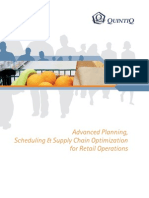 Advanced Planning Scheduling and Supply Chain Optimization for Retail Operations