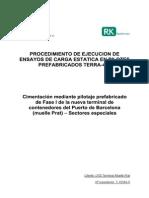 Procedimiento Ejecucion Carga Estatica 127 50 Tons Terminal Contenedores