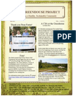 The Greenhouse Project Fall 2013 Newsletter