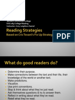 Reading Strategies, based on Cris Tovani's Fix-Up Strategies