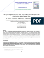 Study And Optimization Of Palm Wood Mechanical Properties By Alkalazition Of The Natural Fiber