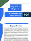 DB Processing Ch05