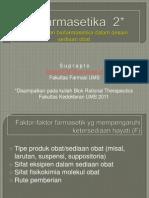 Pertimbangan Biofarmasetika Dalam Desain Sediaan Obat 2011-2