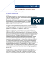 La problemática social contemporánea en América Latina