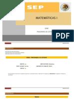 RICB101 Matematicas I
