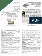 Boletín Oficial del Décimo Octavo Domingo después de Pentecostés - 22092013 - Propio 20C