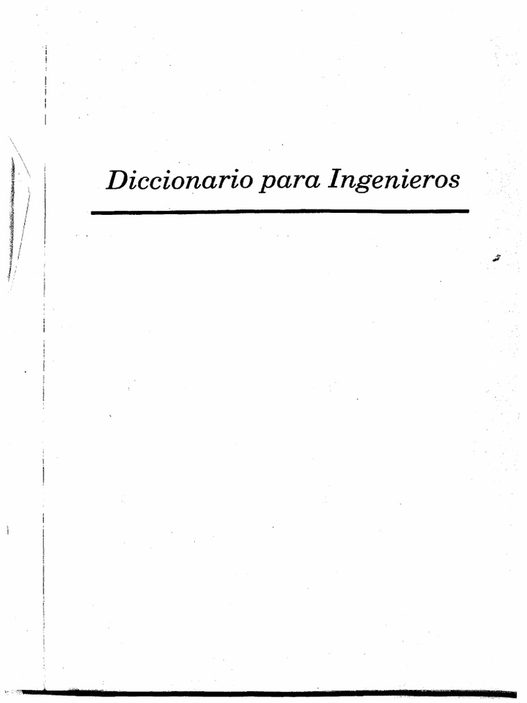 DICCIONARIO PARA INGENIEROS (Español - Inglés)