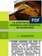 Aceptacion de La Herencia Con Beneficio de Inventario
