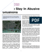 Why We Stay in Abusive Situations