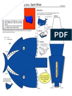 Papercraft Whale A4