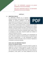 MINISTERIO PÚBLICO Y SU DEFICIENTE desempeño del personal INFLUENCIA  EN EL DESARROLLO DE SUS ACTIVIDADES