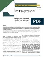 Exito Empresarial Enfoque Por Procesos