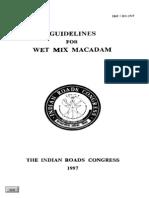Irc_109-1997 Wet Mix Macadam