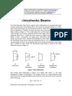 Timoshenko Beam theory