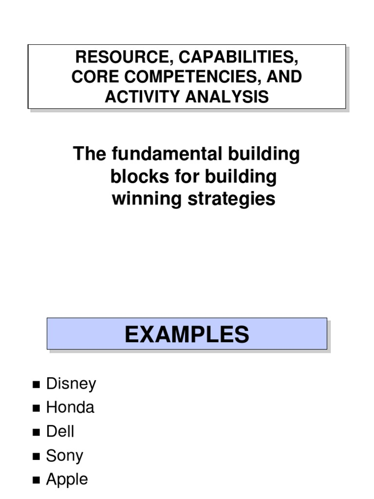 dell core competencies analysis