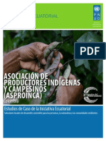Estudios de Caso PNUD:  ASOCIACIÓN DE PRODUCTORES INDÍGENAS Y CAMPESINOS (ASPROINCA), Colombia