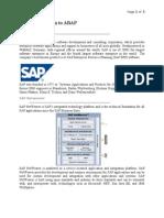 ABAP Brief Intro(Scribd)