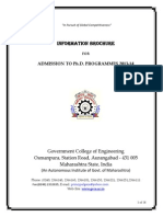 Phd Information Brochure 2013-14