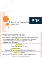 Active vs Passive Voice-STUDENT