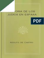 Historia de los Judíos en España - Adolfo de Castro