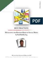 Mitigate the Business Risks of Social Media