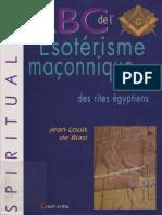 ABC de l'Esotérisme maçonnique, Secrets des rites égyptiens