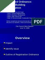 Vacant Buildings Council 061009