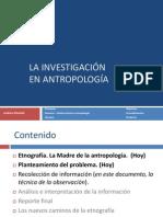 La Investigacion Cuali - Sesion 1 - Intro y Observacion