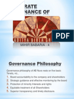 CORPORATE GOVERNANCE OF ADITYA BIRLA NUVO