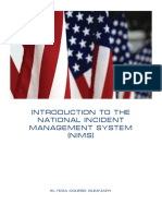 Introduction to the National Incident Management System (NIMS)