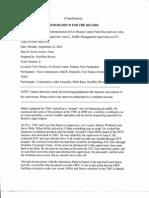 T8 B3 Boston Center Toby Miller Fdr- 9-22-03 Draft MFR and 1 Set Handwritten Notes 752