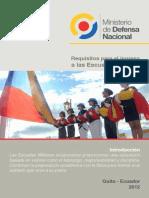Requisitos Ingreso a Escuelas Militares