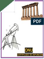 Onu - Certificado de Defuncion