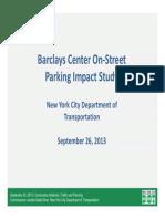 NYC DOT Sept 2013 Barclays Center Parking Study