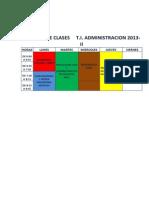 Horario t.i.admon 2013-II