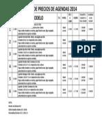 Lista de Precios de Agendas 2014 16 Set 2013