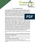Primera Circular JIA2014 Castellano