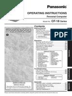 Panasonic CF-18 Operating Instructions