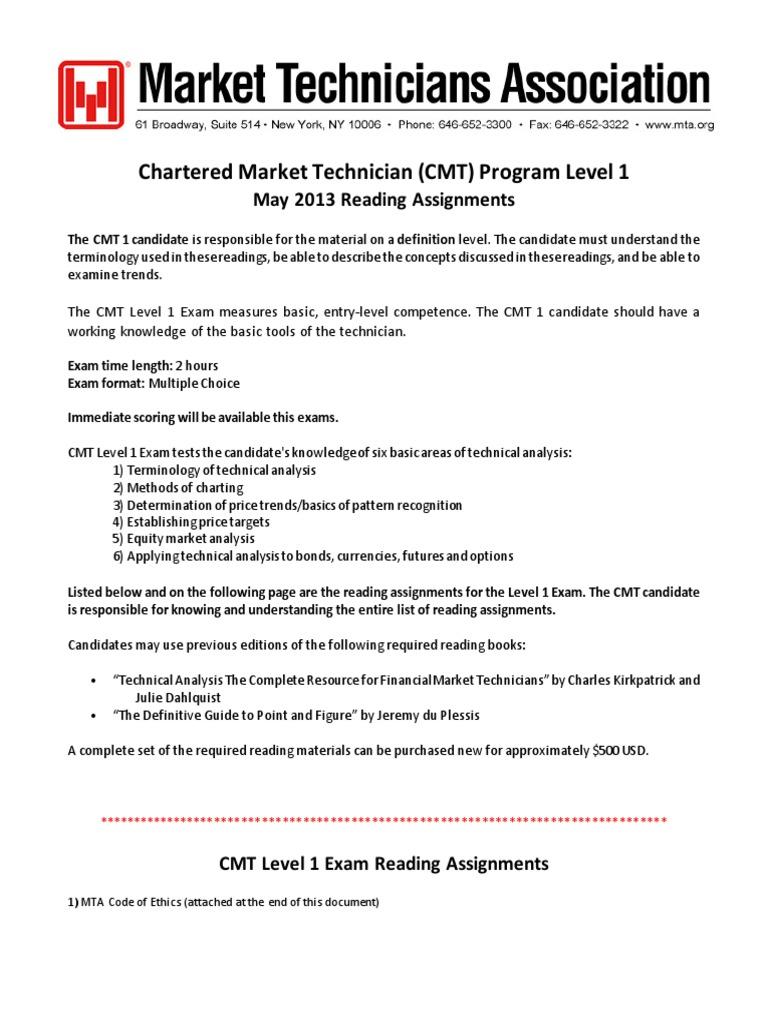 Cmt level 1 2013 practice exam technical analysis financial cmt level 1 2013 practice exam technical analysis financial markets 1betcityfo Image collections